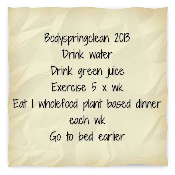 January Body Springclean Challenge