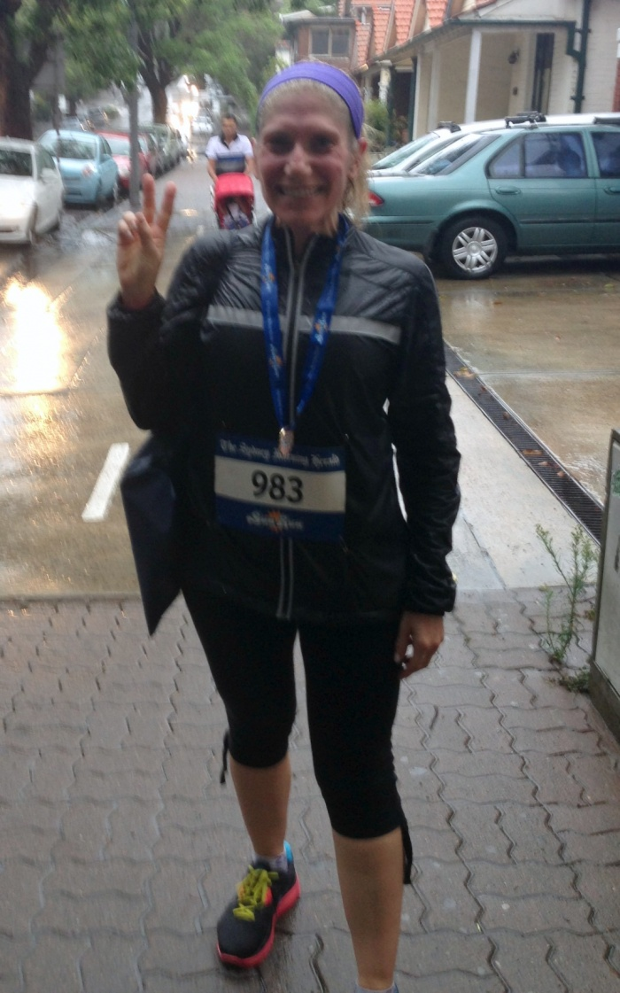After Sun Run 2013 in the rain