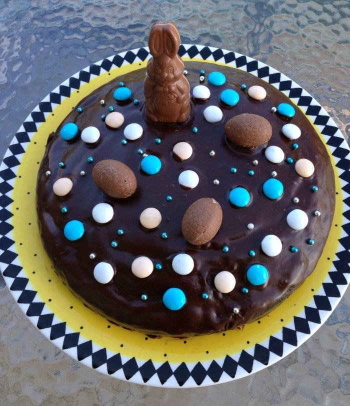 Naughty Chocolate Fudge Cake - Easter Style
