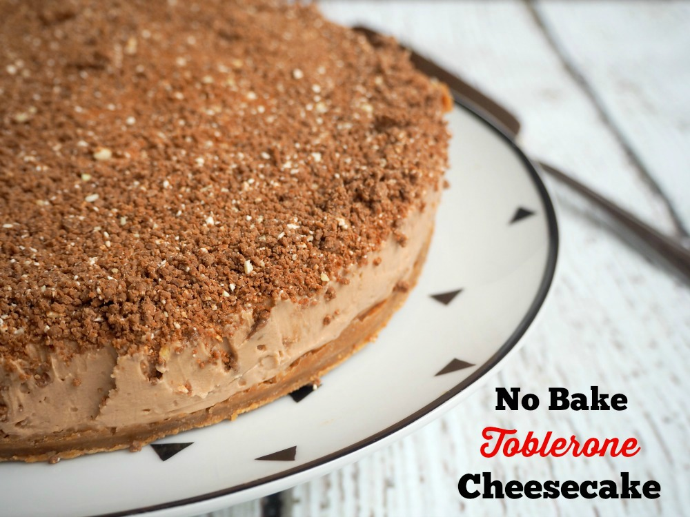 No Bake Toblerone Cheesecake
