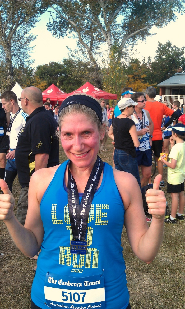 Done and dusted! - Canberra Half Marathon