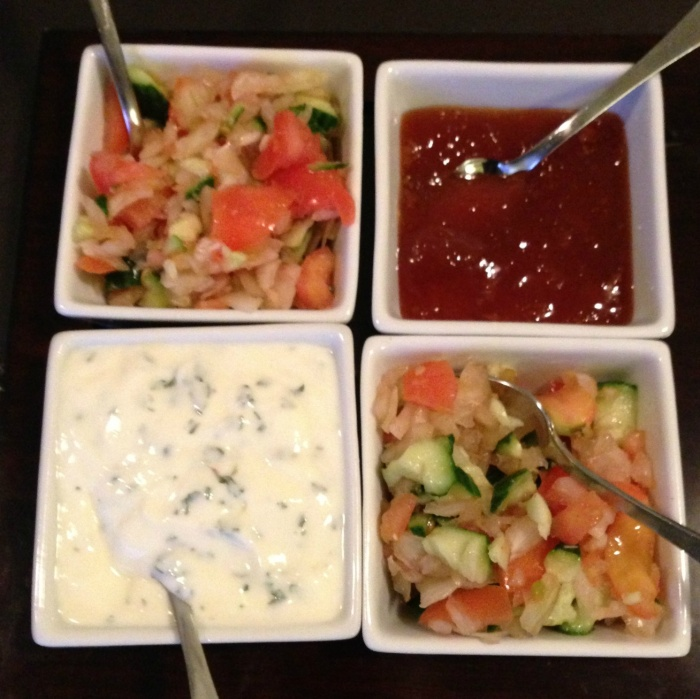 Home made tray Katchumber and Mint Raita