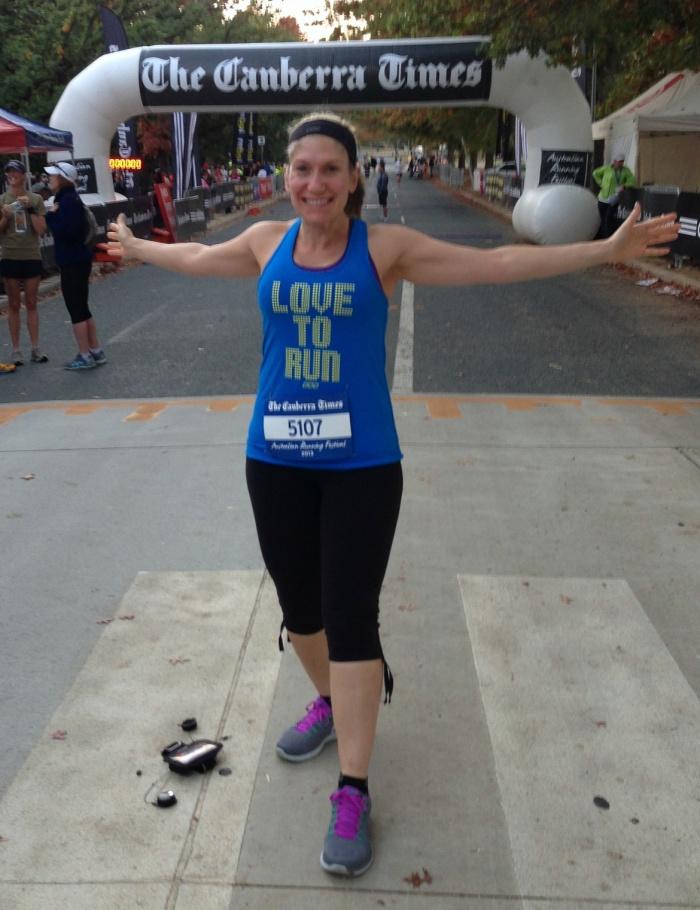 At the start line - Canberra Half Marathon