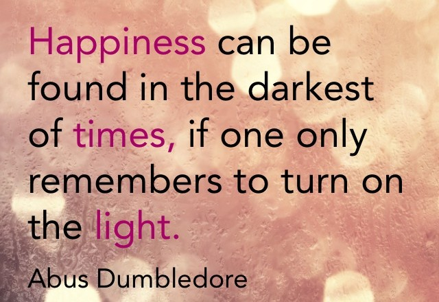 Wednesday Words of Wisdom – Turn on the Light