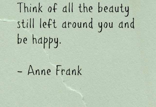 Wednesday Words of Wisdom – Anne Frank