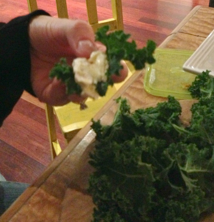 How to eat Kale 3 - Girls night in