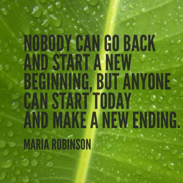 Make a new beginning