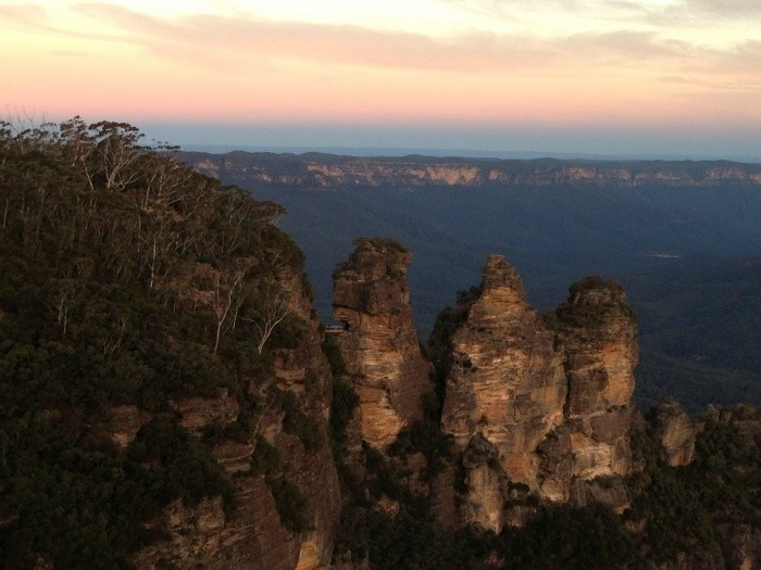 Sunset at the Three Sisters