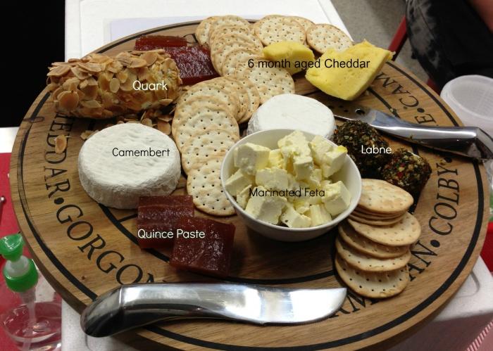 Cheesemaking Workshop - Cheese board