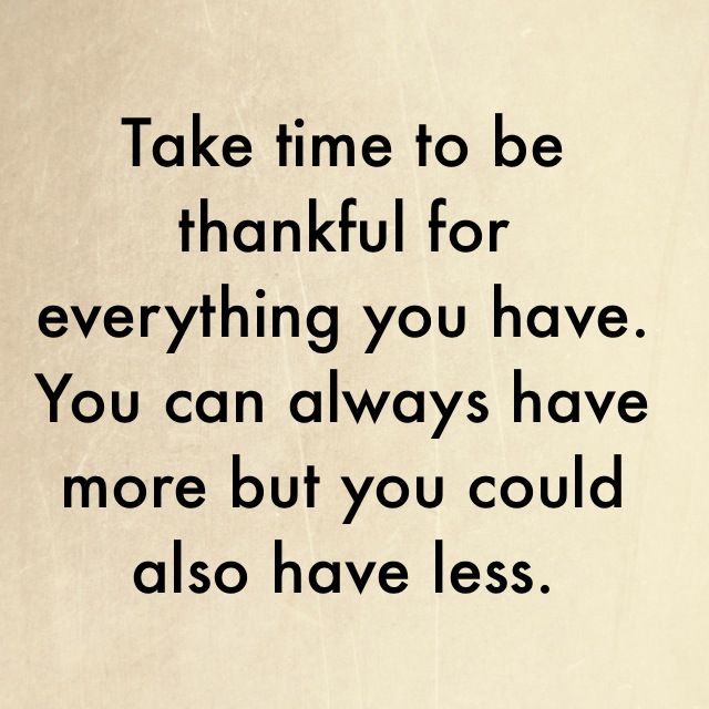 Take time to be thankful