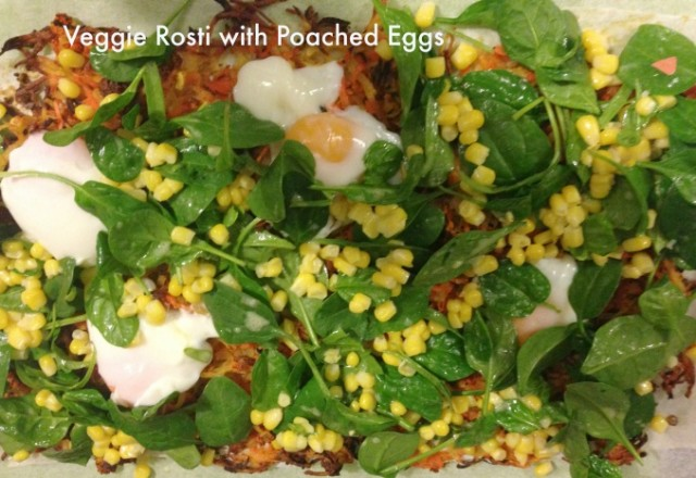 Meatless Monday – Veggie Rosti with Poached Eggs