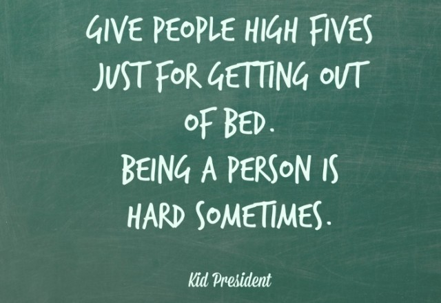 Wednesday Words of Wisdom – High Five