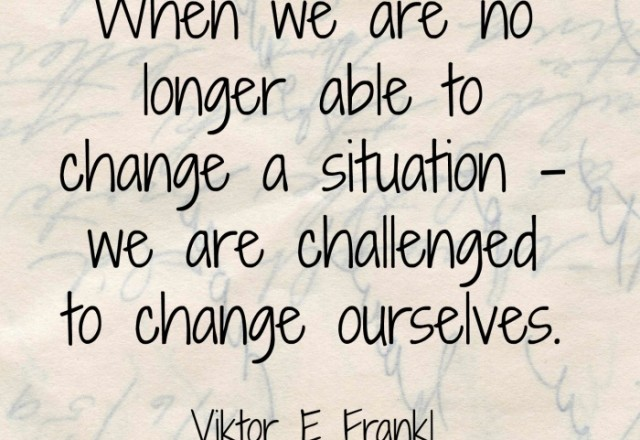 Wednesday Words of Wisdom – Viktor Frankl