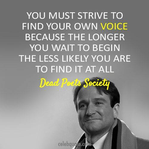 Wednesday Words of Wisdom – Robin Williams