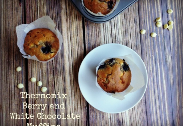 Thermomix Berry and White Chocolate Muffins