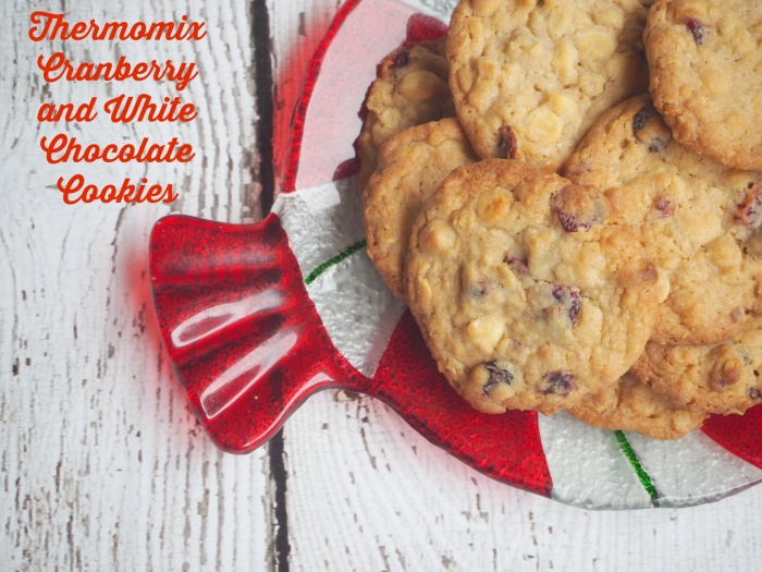 Thermomix White Chocolate and Cranberry Cookies