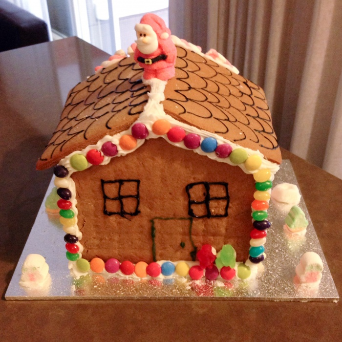December gingerbread house