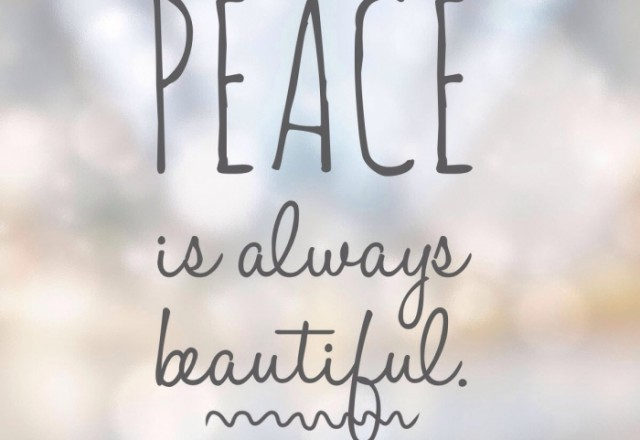 Wednesday Words of Wisdom – Peace