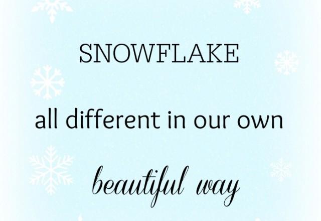 Wednesday Words of Wisdom – Snowflakes