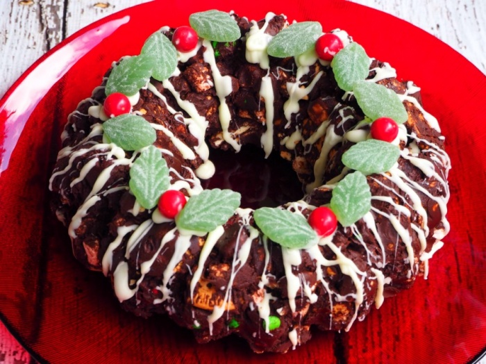 Christmas Rocky Road Wreath