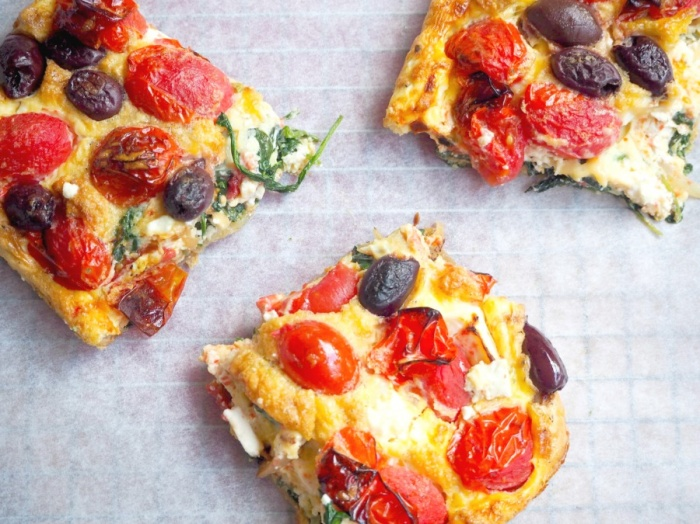 Meatless Monday - Feta, Tomato and Spinach Frittata