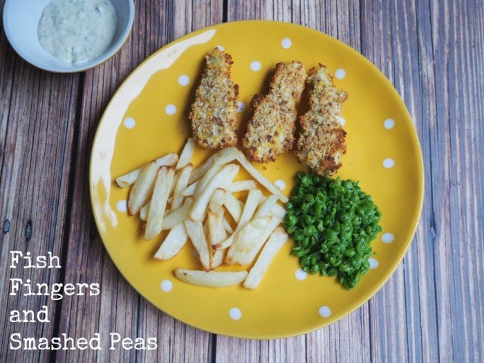 Fish Fingers and Smashed Peas