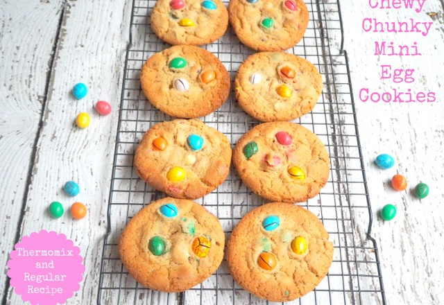 Chewy Chunky Mini Egg Cookies