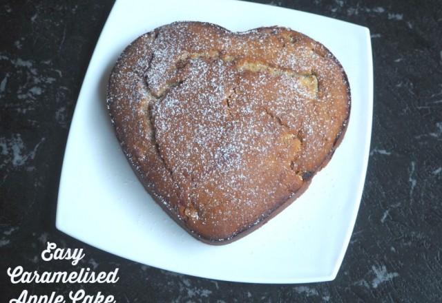 Easy Caramelised Apple Cake