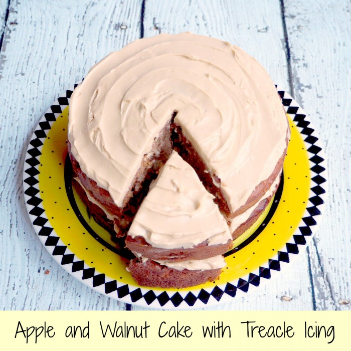 Apple and Walnut Cake with Treacle Icing