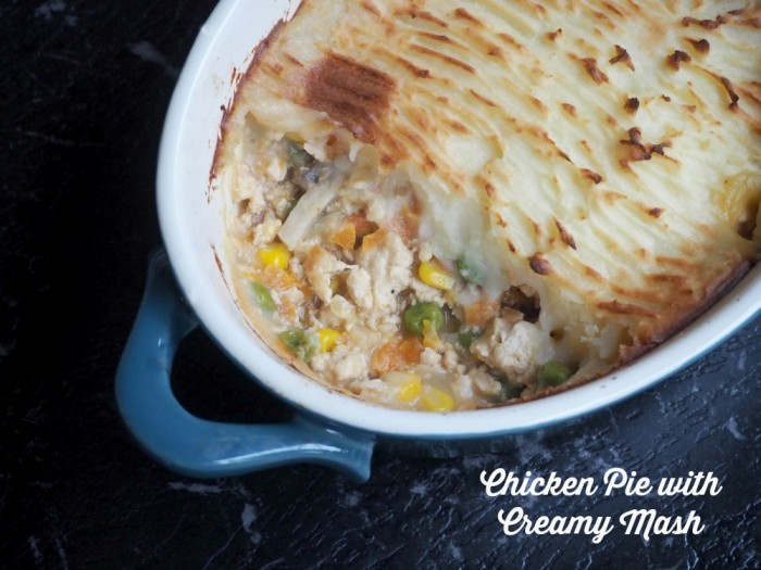 Chicken Pie with creamy mash