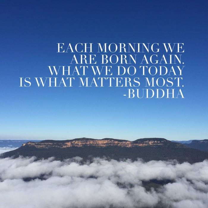 Buddha each morning