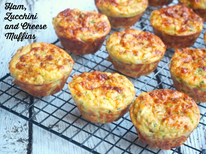 Ham, Zucchini and Cheese Muffins