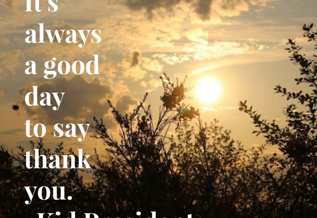 Wednesday Words of Wisdom – A Good Day to Say Thank You