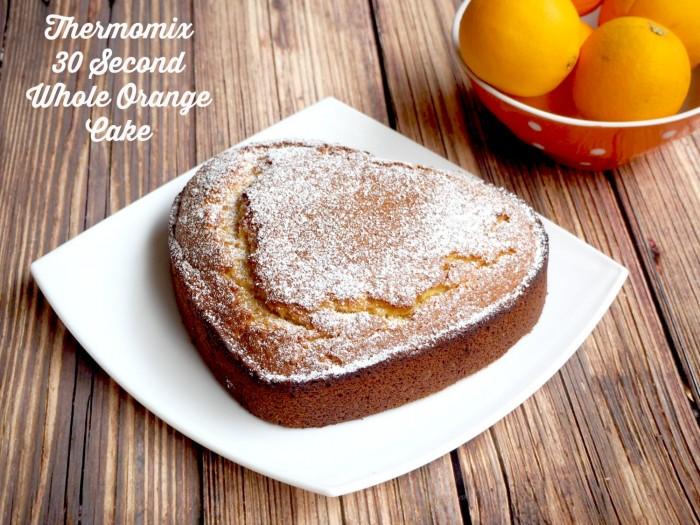 30 second whole orange cake