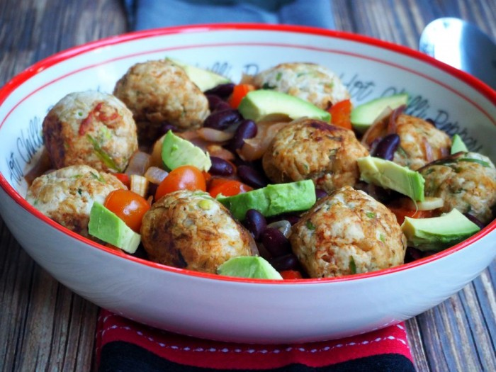 Spicy Meatballs with Chilli Beans