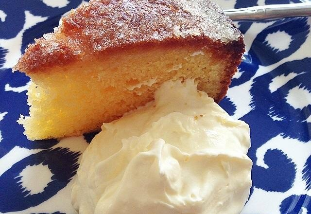 Thermomix Lemon Cake with Crunchy Topping