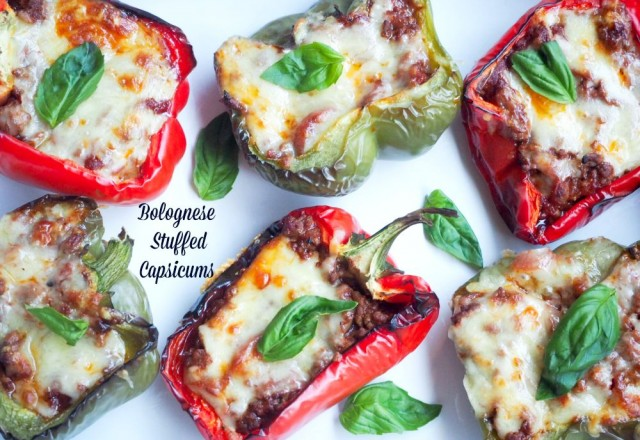 Bolognese Stuffed Capsicums