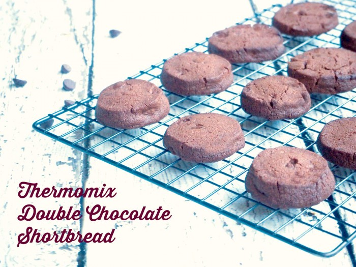 Thermomix Double Chocolate Shortbread text