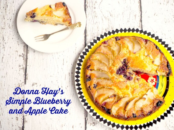 Simple Blueberry and Apple Cake