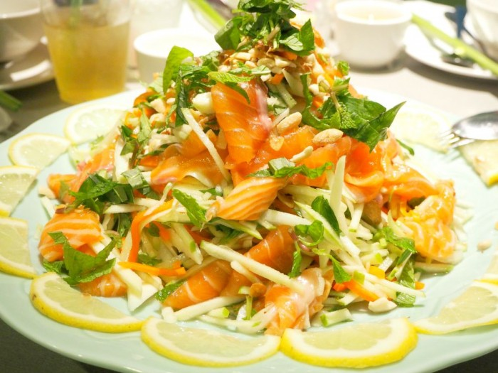 Raw Salmon Salad - Cabramatta Food Tour