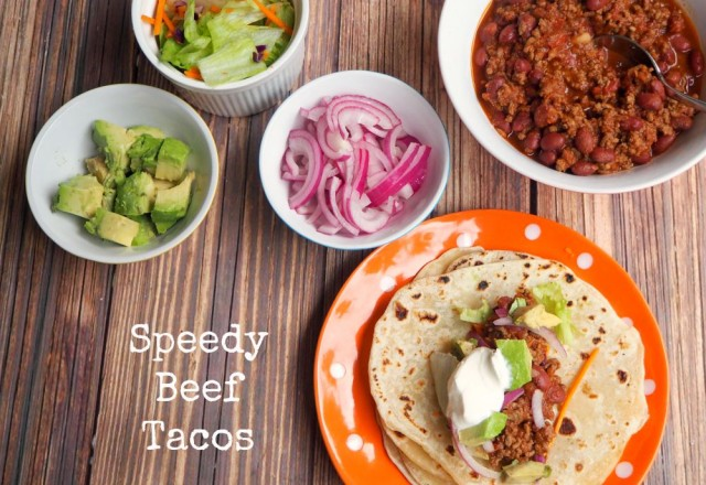 Speedy Beef Chilli Tacos