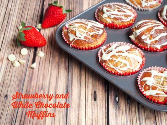 Strawberry and White Choc Muffins