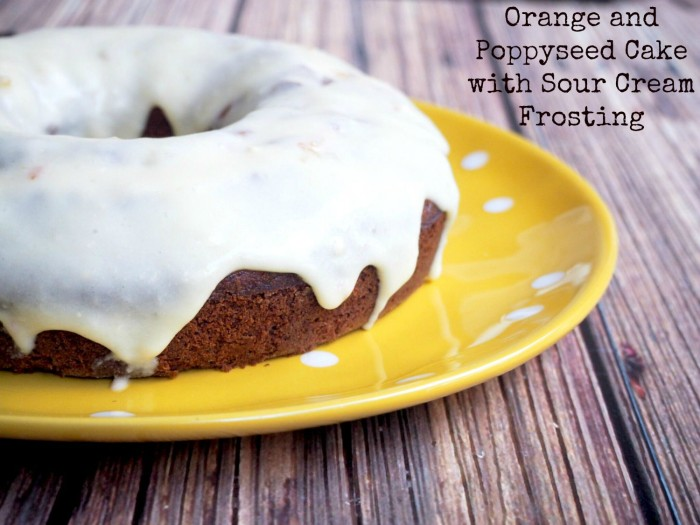 orange and poppyseed cake with sour cream frosting new text