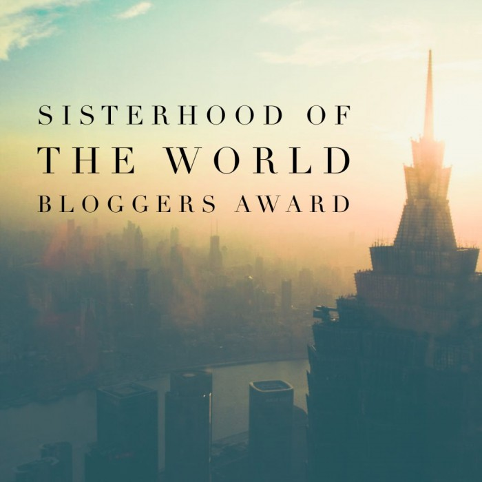 Sisterhood of the World Bloggers Award
