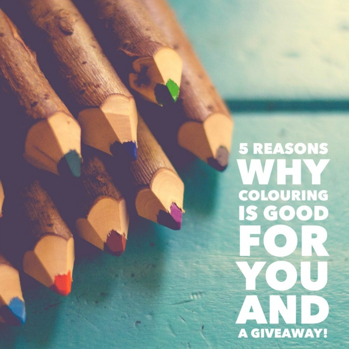 5 reasons why colouring is good for you and a giveaway