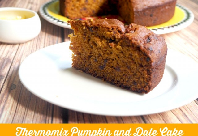 Thermomix Pumpkin and Date Cake