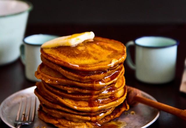 Pumpkin and Honey Pancakes