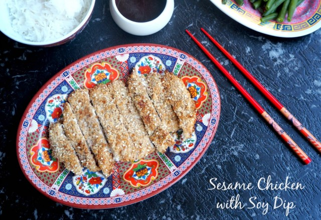 Sesame Chicken with Soy Dip