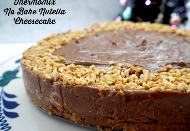 Thermomix No Bake Nutella Cheesecake