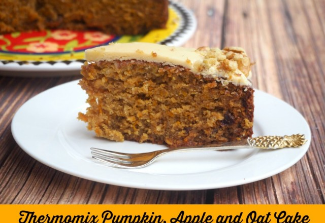 Thermomix Pumpkin, Apple and Oat Cake